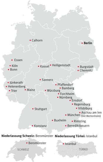 München Karte Deutschland.München Einrichtungen Salesianer Don Boscos Don Bosco