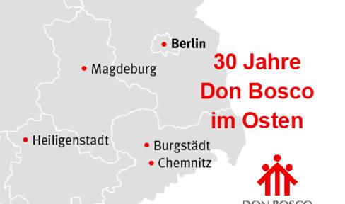 Karte 30 Jahre Don Bosco im Osten